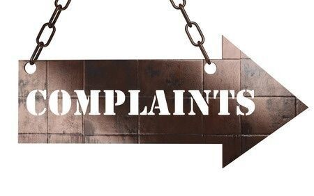 arrow that reads complaints