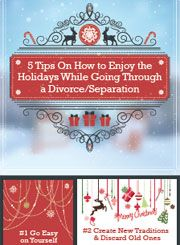 Infographic with tips for enjoying the holidays after divorce